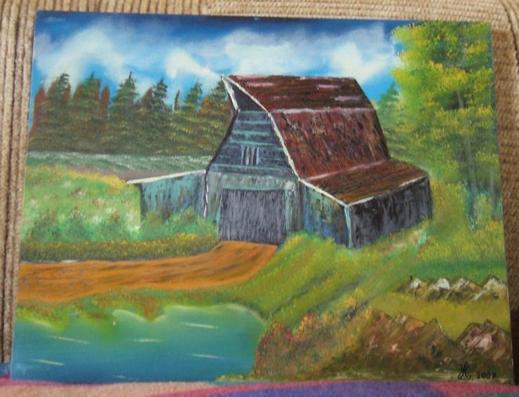 Berglandschaft - Oel Gemälde - 50 x 70 cm