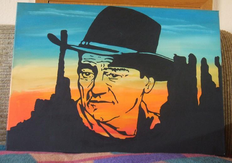 John Wayne - Silhouetten Gemälde - 50 x 70