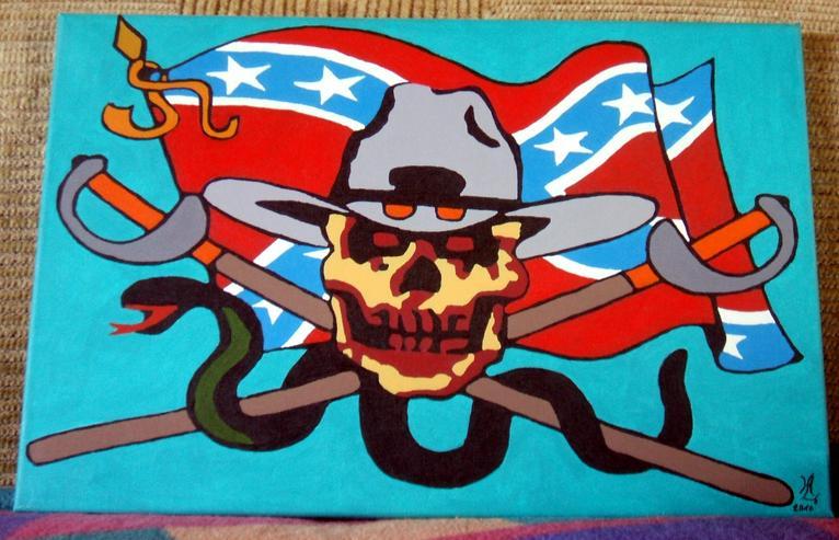 Yankie Ghost Soldier - Acryl Gemälde - 60 x 40 cm