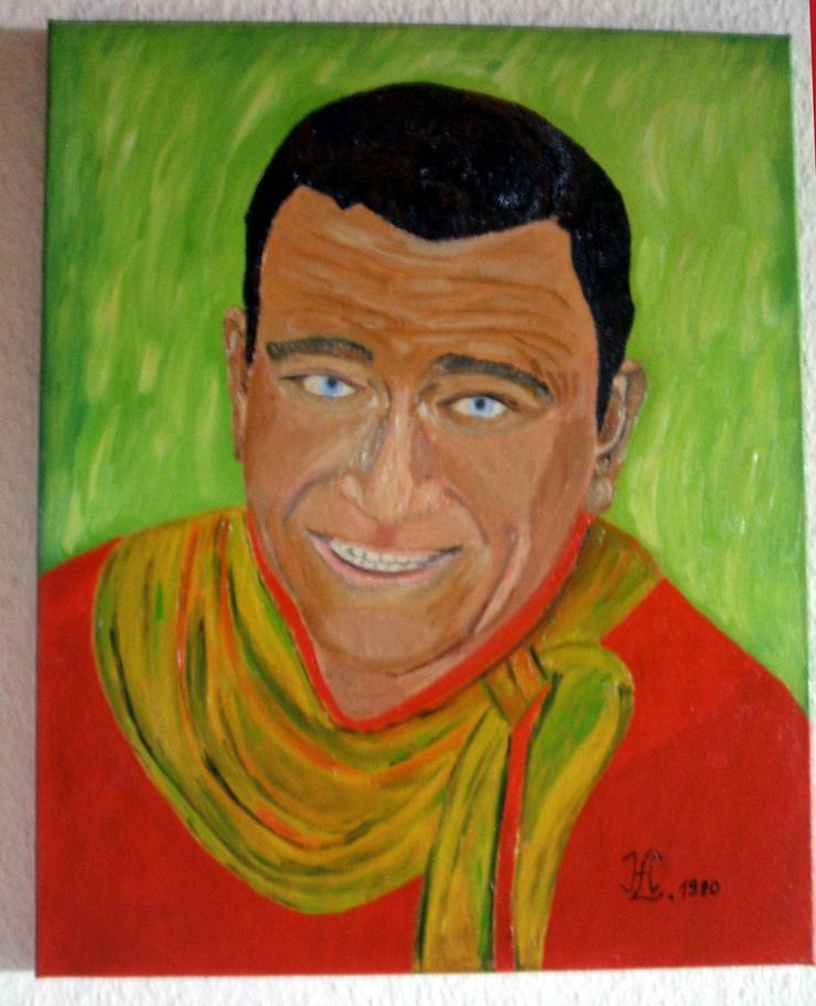 John Wayne - Oel Gemälde - 50 x 40 cm