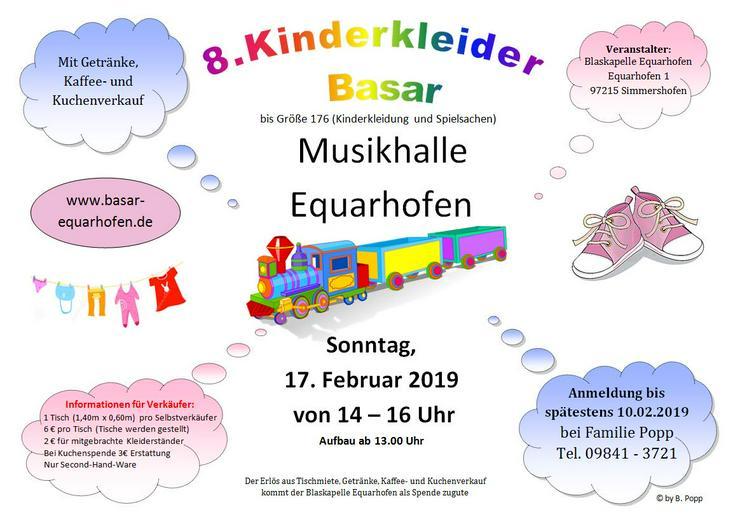8. Kinder Kleider Basar PLZ 97215 Equarhofen Musikhalle Kleidung