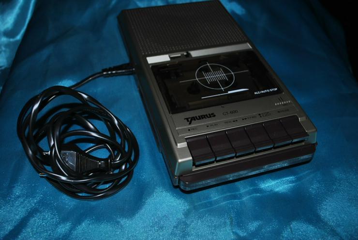 Kassettenrecorder Taurus CT600 Tragbarer Kassettenabspieler Eingebautes Mikrofon