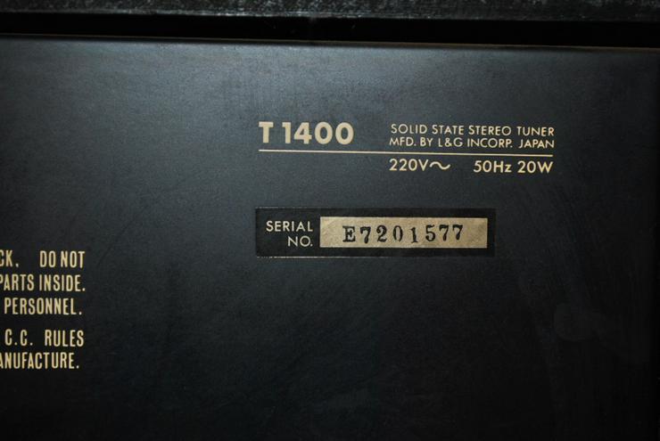 Bild 5: L&G Solid State AM/FM Stereo Tuner T1400 Luxman / Ersatzteilspender