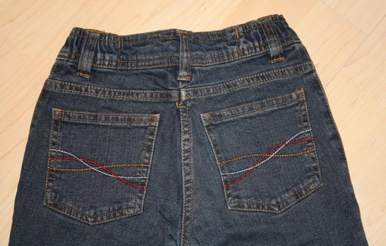 Bild 4: Lange Mädchen Jeans Hose Kinder Jeanshose lang dunkelblau 122 NEU