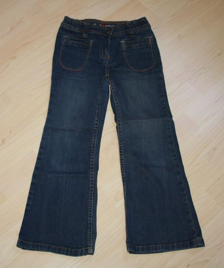 Lange Mädchen Jeans Hose Kinder Jeanshose lang dunkelblau 122 NEU
