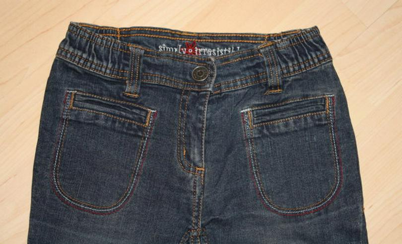 Bild 2: Lange Mädchen Jeans Hose Kinder Jeanshose lang dunkelblau 122 NEU