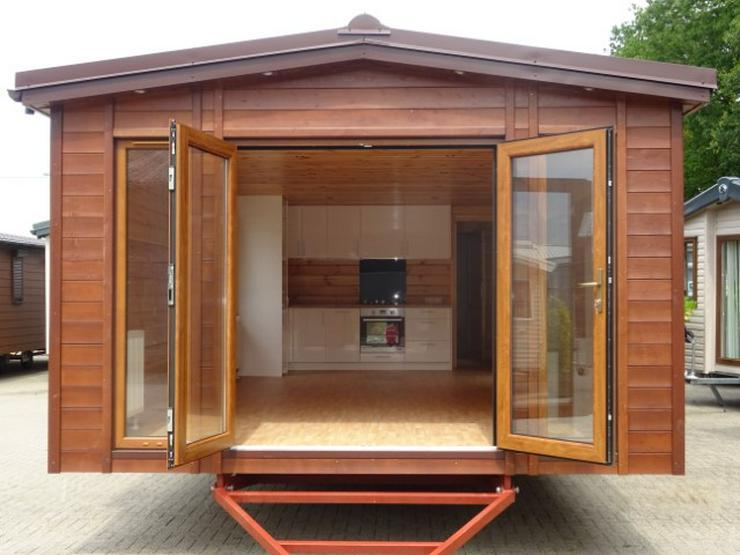 Bild 3: Mobilheim Nordhorn Holz Saune WINTERRABATT winterfest wohnwagen dauerwohnen camping caravan tiny house haus