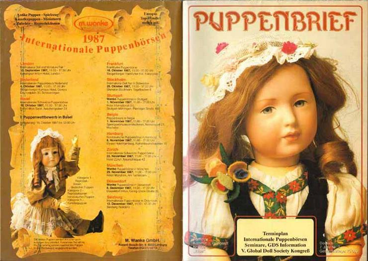 Konvolut Zeitschriften - Vier Ausgaben Puppenbrief - M. Wanke
