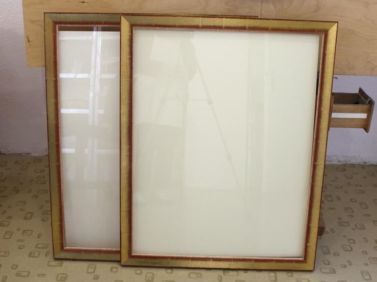 2 Bilderrahmen Massivholz Mit Glas & Rückwand 63,5*82 cm - Bilderrahmen - Bild 1