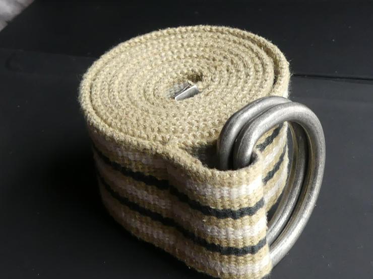Gürtel beige-weiß-schwarz (auch zu verschicken)