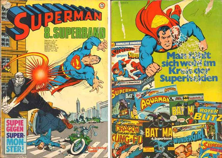 Comic-Heft von Adolf Kabatik - Superman - 8. Superband - 1977