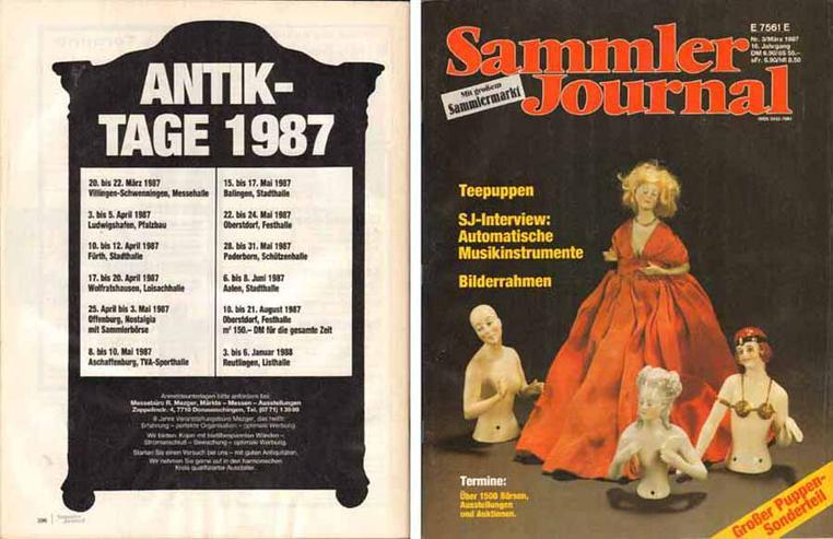 Sammler Journal mit großem Sammlermarkt - 16. Jahrgang Nr. 3/März 1987