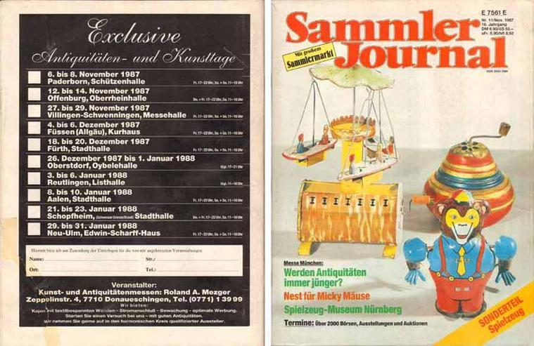 Sammler Journal mit großem Sammlermarkt - 16. Jahrgang Nr. 11/Nov. 1987