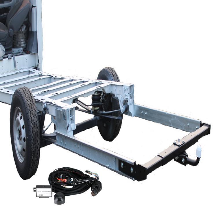 Anhängerkupplung Variabel 12,5 kN inkl. Rahmenverlängerung Normal Fiat Ducato ZFA250 und Elektrokabelsatz für Ihr Wohnmobil / Reisemobil
