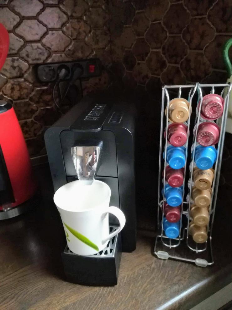 Bild 4: Kaffee-Tee-Kakao-Kapselmaschine , schwarz ,  zu verkaufen