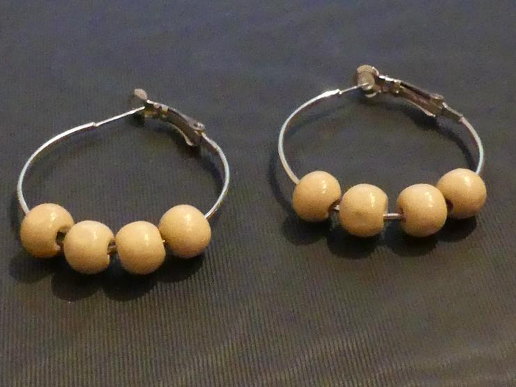Ohrringe mit Holzperlen (auch zu verschicken)