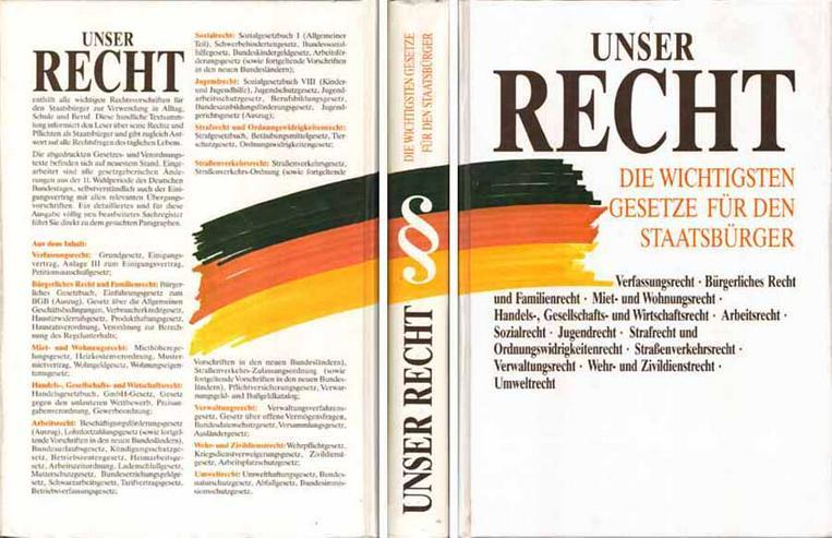 Sachbuch - Unser Recht - Die wichtigsten Gesetze für den Staatsbürger 1991