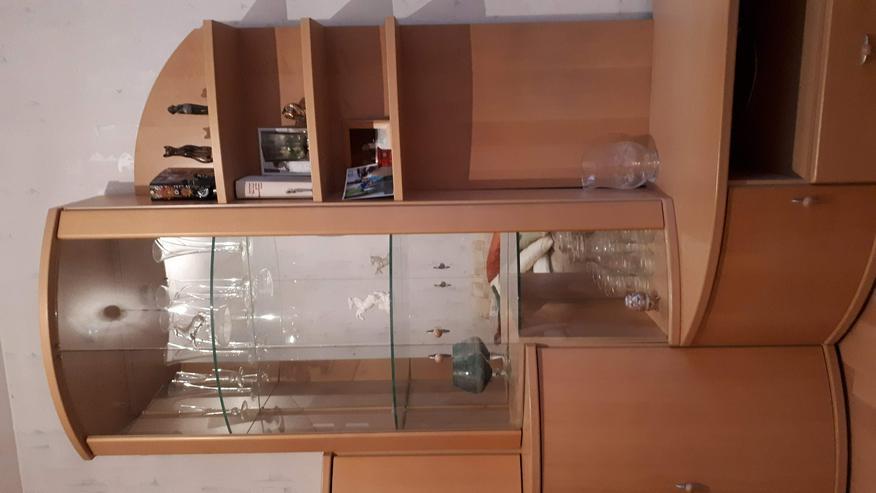 Bild 3: Wohnzimmer Schrankwand, Buche