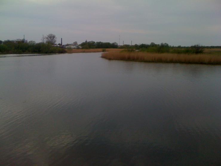 Ferienhaus Region Kaliningrad, Bezirk Polesk. Auf dem Fluss Deima