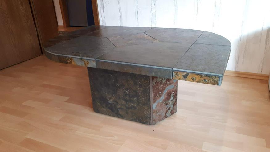 Bild 2: Toller Tisch Schiefer, Größe ca.  90cm*75cm