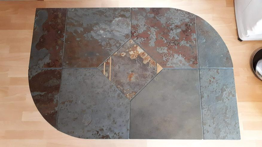 Bild 3: Toller Tisch Schiefer, Größe ca.  90cm*75cm