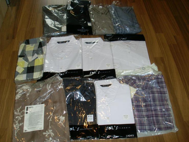 Bild 2: NEU: 12 Stück Blusen + Hemden Paket versch. Größen, Farben, Marken
