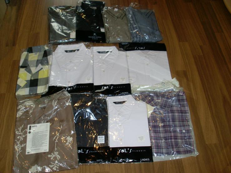 NEU: 12 Stück Blusen + Hemden Paket versch. Größen, Farben, Marken - Größen 40-42 / M - Bild 1