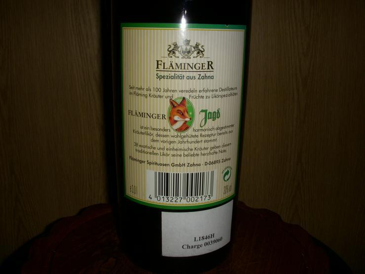 Bild 3: FLäminger Kräuterlikör, 3L Flasche Mega XXL !