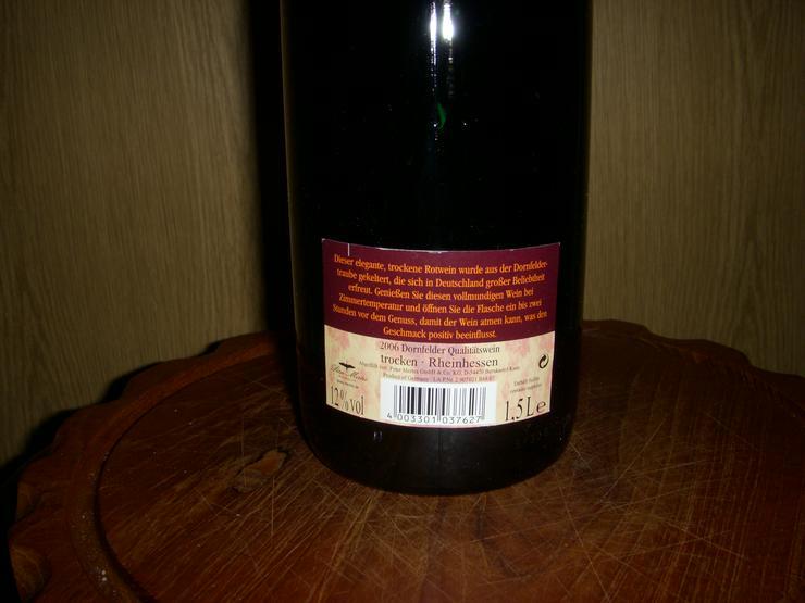 Bild 3: Dornfelder Wein,XXL, 2006 !