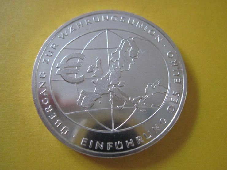 10-Euro-Silber-Gedenkmünzen 2002 F Einführung des Euro - Übergang zur Währungsunion