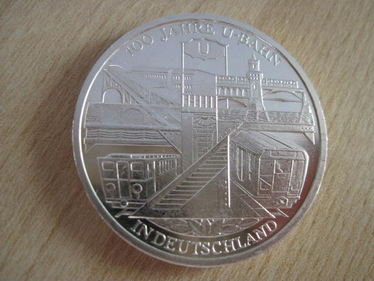 10-Euro-Silber-Gedenkmünzen 2002 D 100 Jahre U-Bahn in Deutschland - Euros - Bild 1