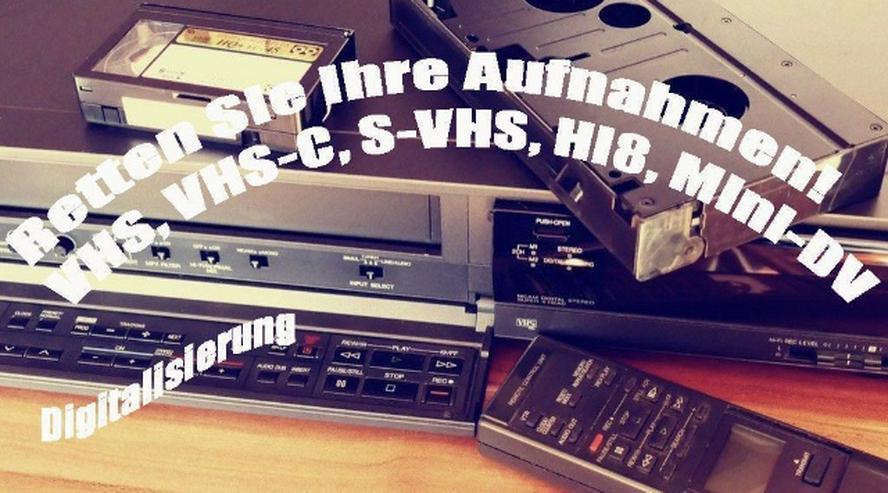 Digitalisierung von VHS,VHS-C,Hi8,Mini-DV Kassetten Bundesweit