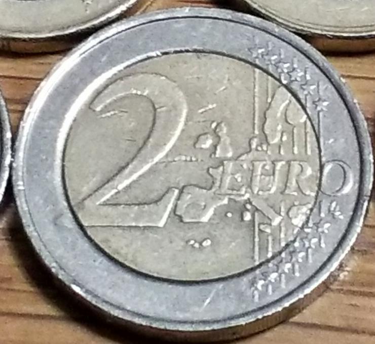 Bild 2: 2 Euro Münze von 2005 aus Belgien