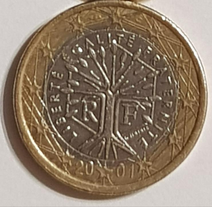 Bild 2: 1 Euro Münze von 2001
