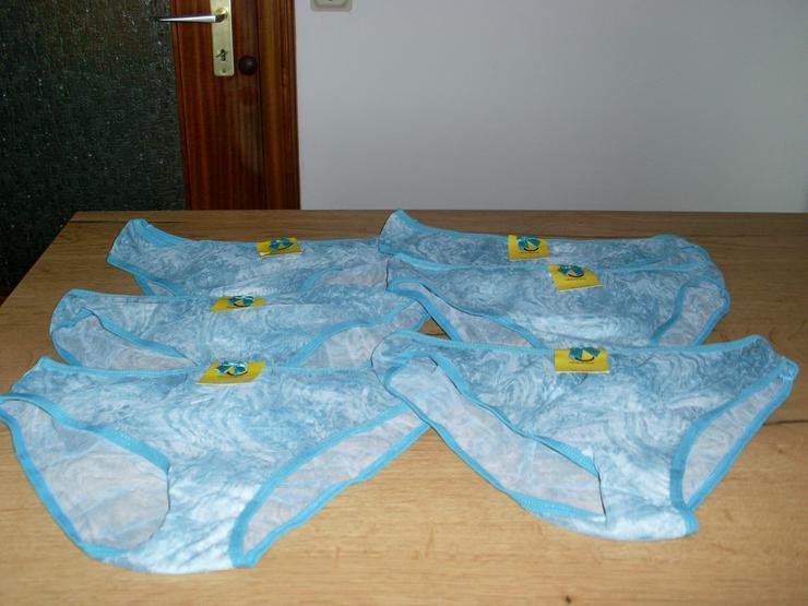 NEU: 6 Stück Damen Slips in türkis Gr. M/L - Cup B / 40-42 / M - Bild 1