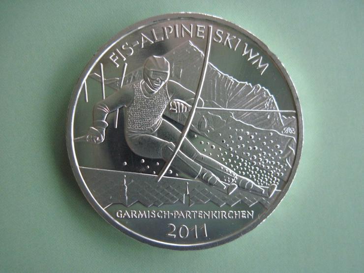 10 Euro Silber Gedenkmünze 2010 J FIS Alpine Ski WM 2011
