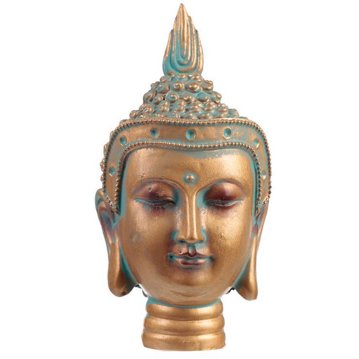 Thai Buddha Kopf Kupfer & Grünspan