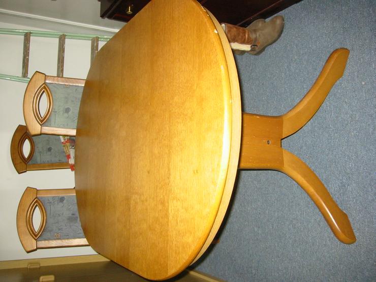 Esstisch m. 4 Stühlen , Eiche massiv