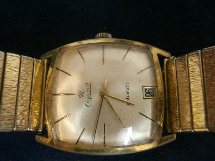 Bild 2: Armbanduhr Exquisit - vergoldet