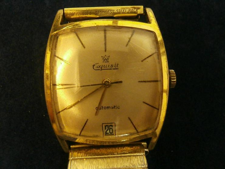 Bild 3: Armbanduhr Exquisit - vergoldet