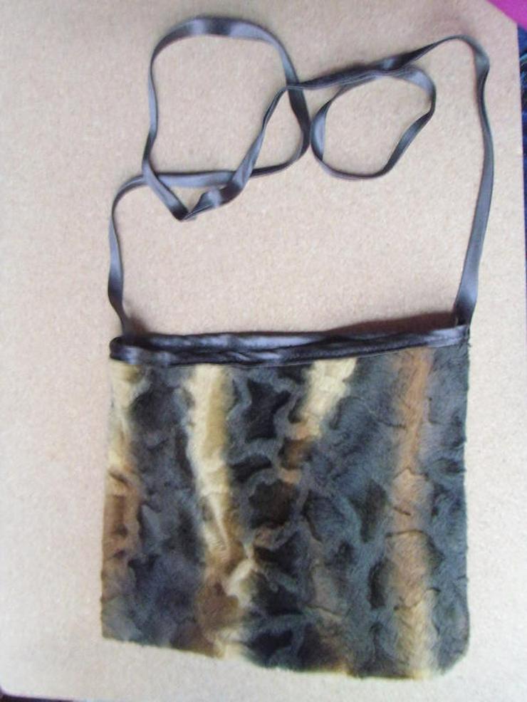 schwarz-braune Tasche (auch zu verschicken)