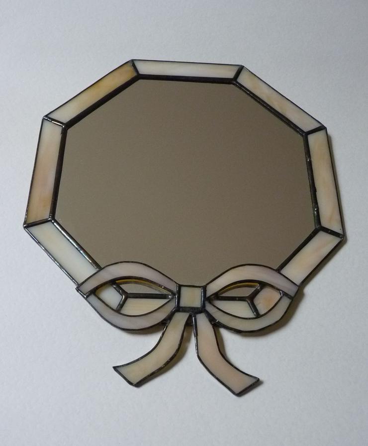 8 eckiger Tiffany Spiegel 22x 26 cm