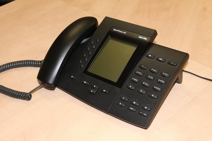 DeTeWe Beistellung für OpenPhone 65 Schwarz mit Tastenfeld