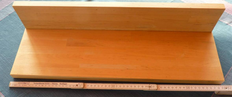 Wandboard Buche natur,  stabverleimt 60 x 19 x 12 cm