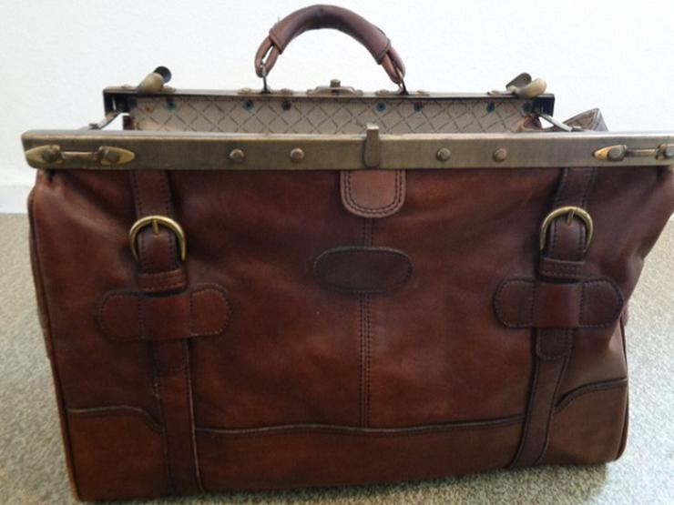 Sehr alte Arzt Reisetasche Leder super Erhalten