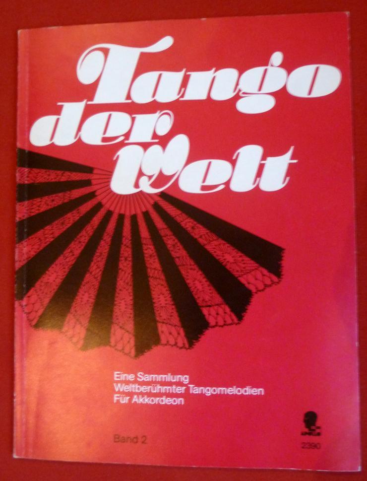"""Noten für Akkordeon, """"tango der Welt"""""""