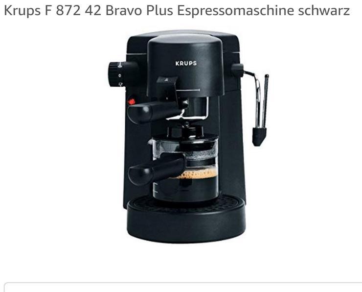 Krups Bravo Plus F 872 42 Espressomaschine schwarz mit komplettem Zubehör: - Kaffeemaschinen - Bild 1