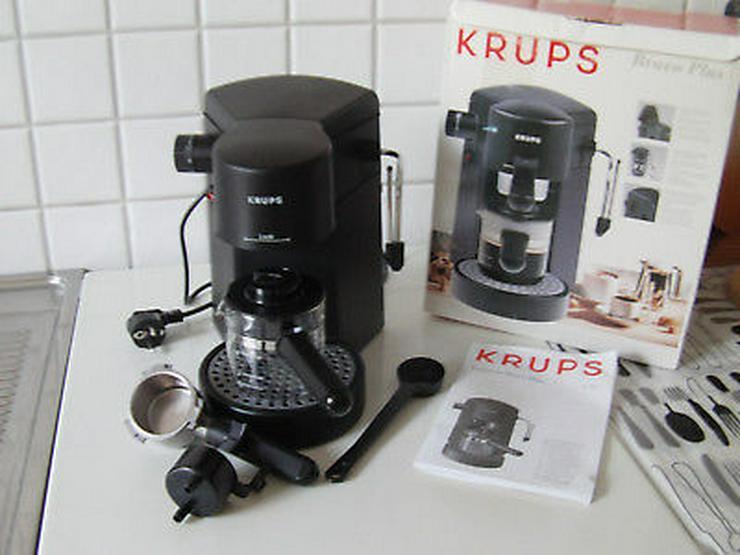 Bild 2: Krups Bravo Plus F 872 42 Espressomaschine schwarz mit komplettem Zubehör:
