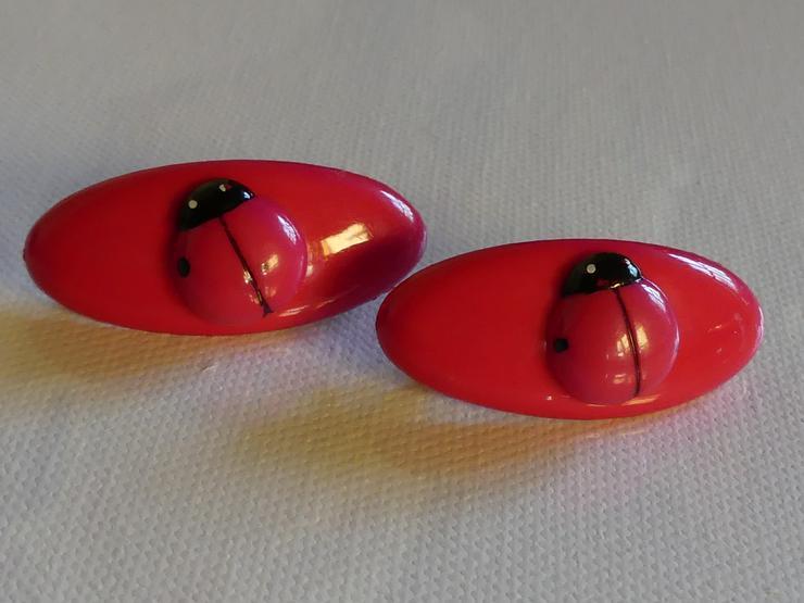 zwei Haarspangen pink mit Marienkäfer (auch zu verschicken)