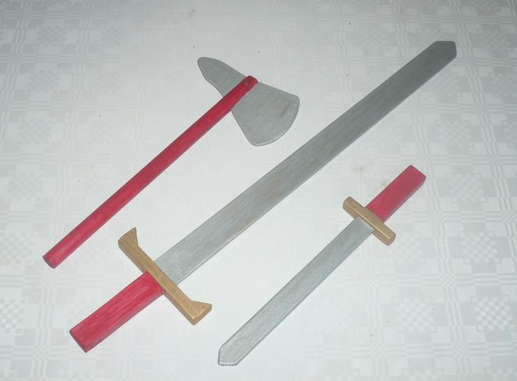Holzschwert, Konvolut für den kleinen Ritter